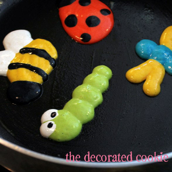 garden pancakes - bugs and flowers pancakes