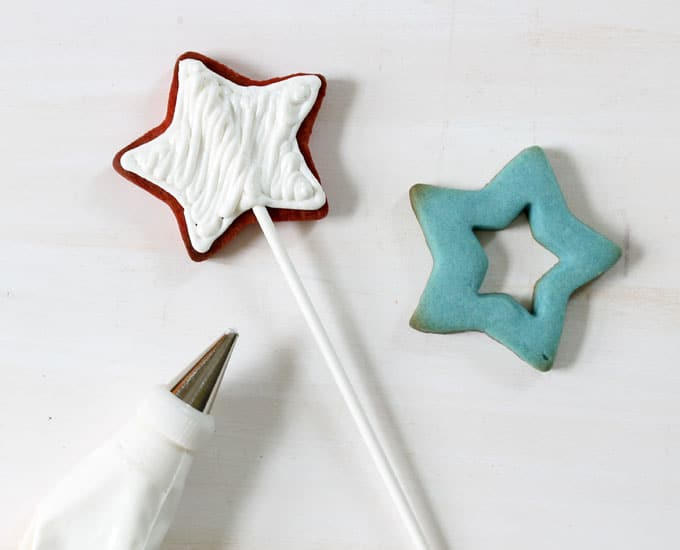 decorating Pop Rocks star cookies, 4th of July sandwich cookies
