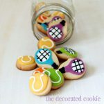 tennis cookies in a jar