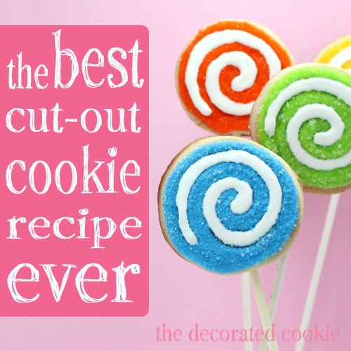 the best ever cut-out cookie recipe for cookie decorating