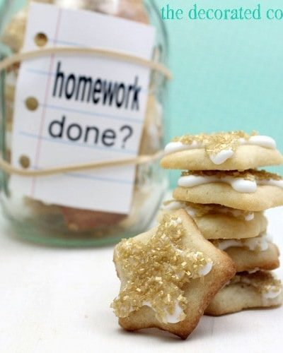 gold star cookie jar for back to school