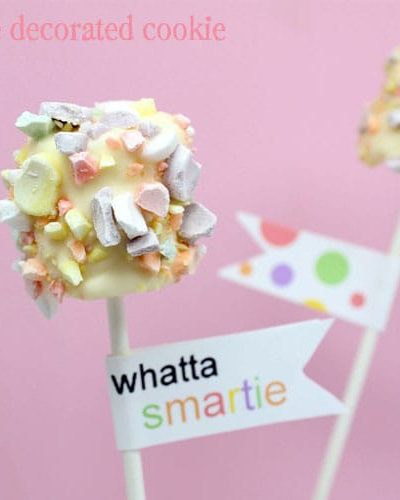 smarties marshmallow pops
