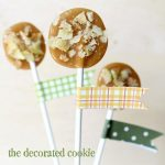 caramel apple chip lollipops