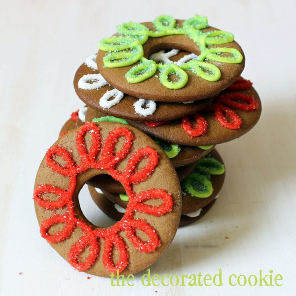 gingerbread cookie wreaths