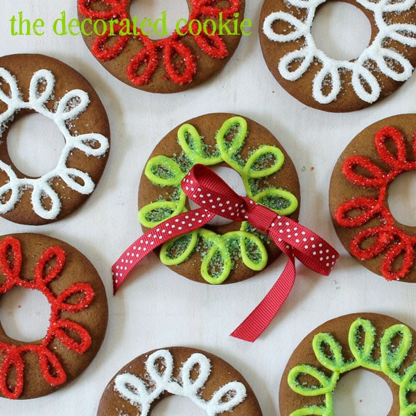 Gingerbread Cookie Rings from thedecorated cookie inkatrinaskitchen.com