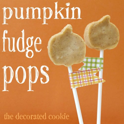 pumpkin fudge on a stick