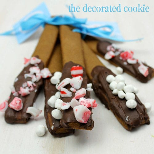 gingberbread cookie sticks - gingerbread stir sticks
