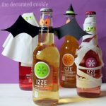 IZZE bottles dressed up for Halloween
