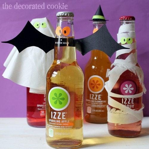 IZZE bottles dressed up for Halloween