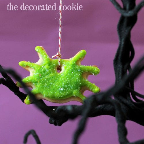 spider ornament cookies for Halloween