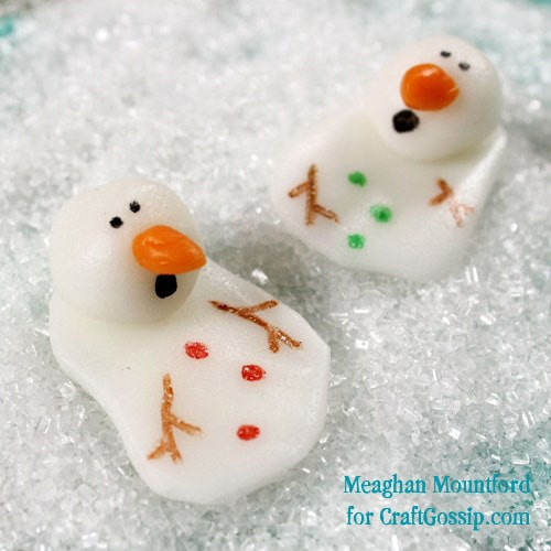 melting snowmen candy made out of Airheads