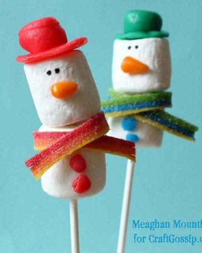 Airheads snowmen pops