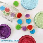 glitter cookie jar