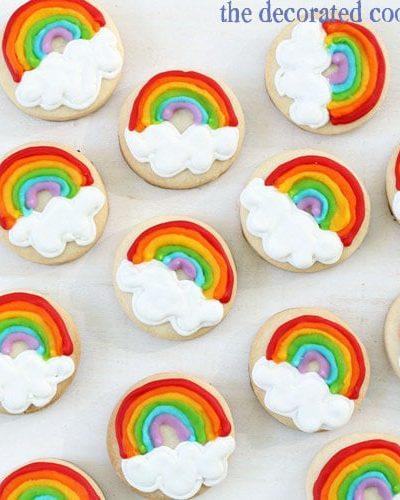 mini rainbow cookies