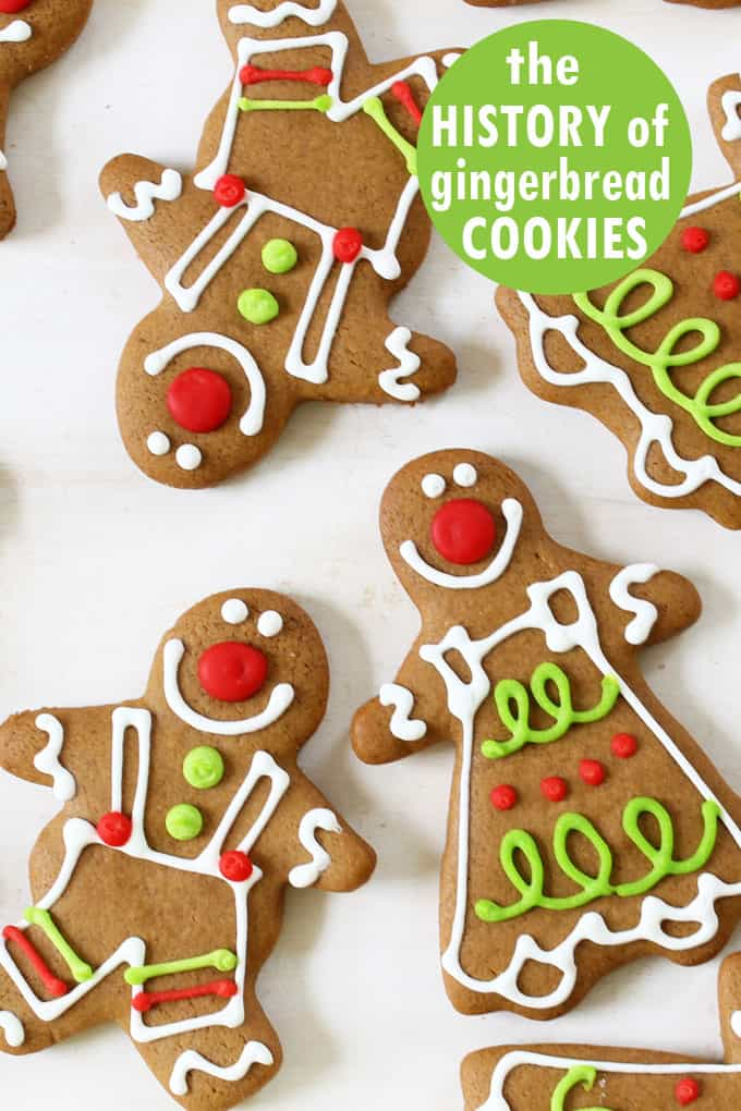 HISTORY OF GINGERBREAD COOKIES and gingerbread man cookies recipe.