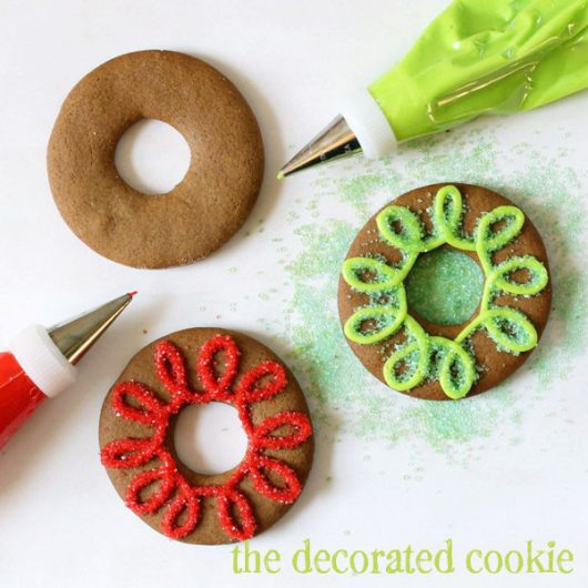 gingerbread cookie rings for christmas