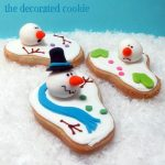 the original melting snowman cookies - the decorated cookie