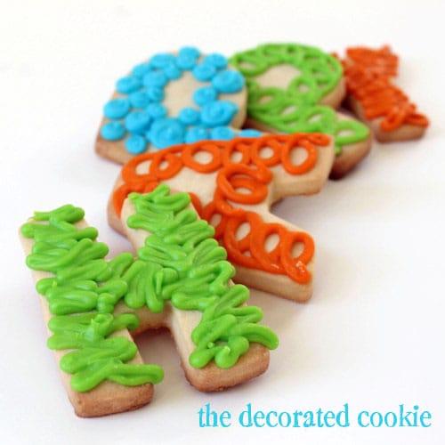 happy birthday letter cookies