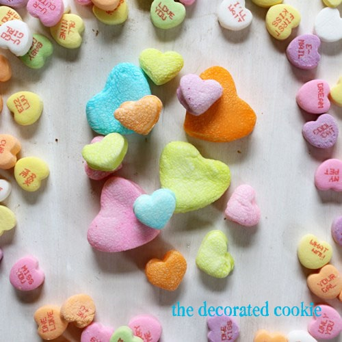 dip-dyed marshmallow hearts for Valentine's Day