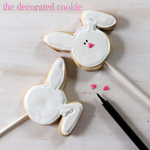 bow tie bunny cookie pops for Easter.