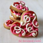 scribble heart cookies for Valentine's Day