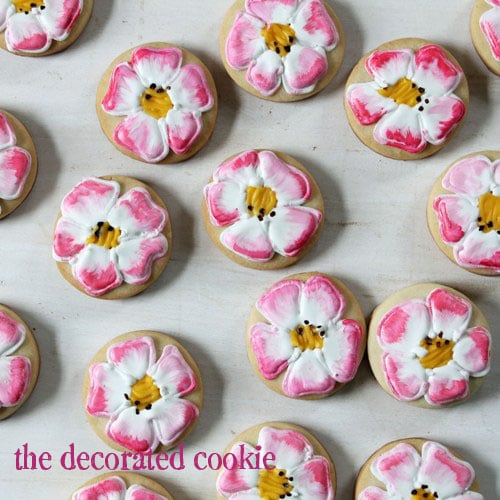 painted get well cookies: Eglantine Roses