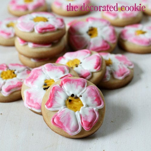 painted get well cookies: Eglantine Roses to heal a wound