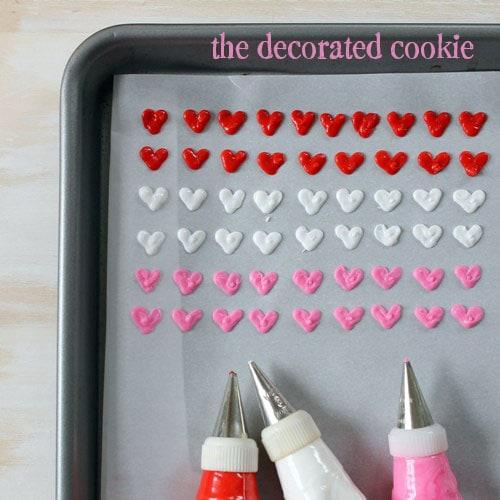 homemade heart sprinkles for Valentine's Day