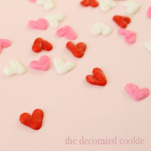 homemade heart sprinkles for Valentine's Day
