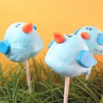 bluebird brownie pops - the decorated cookie
