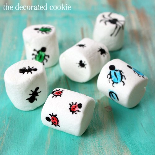 crawling bug marshmallows