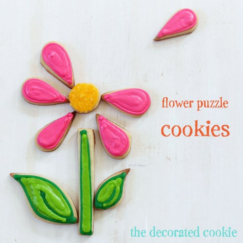flower puzzle cookies | The Decorated Cookie