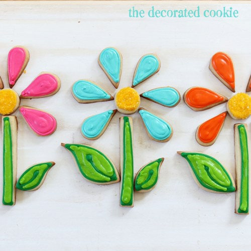 flower puzzle cookies