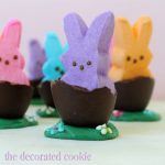 PEEPs bunnies in chocolate eggs