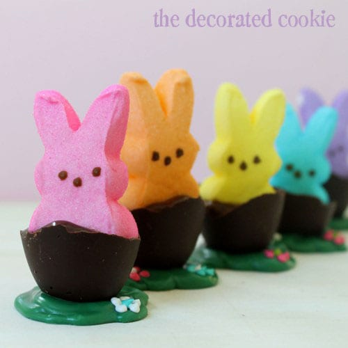 peep bunnies chocolate eggs