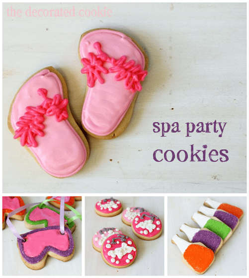 spa cookies for a birthday party