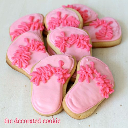 spa slippers cookies