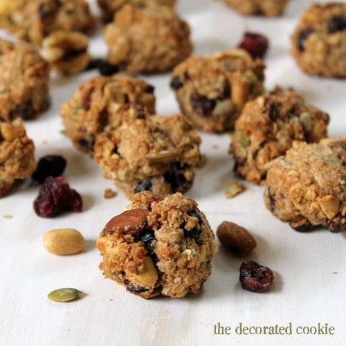 trail mix oat bites