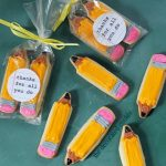 pencil cookies with free printable for to thank teachers