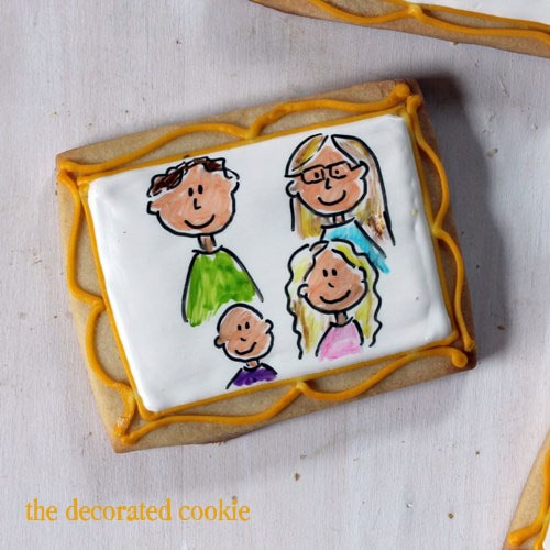 family portrait cookies and other Mother's Day cookies