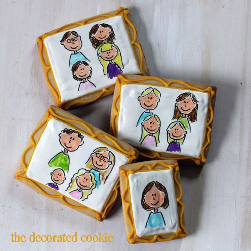 Mother's Day family portrait cookies