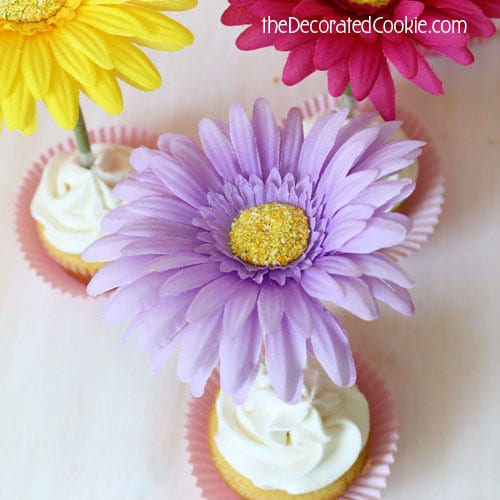easiest ever flower cupcake toppers