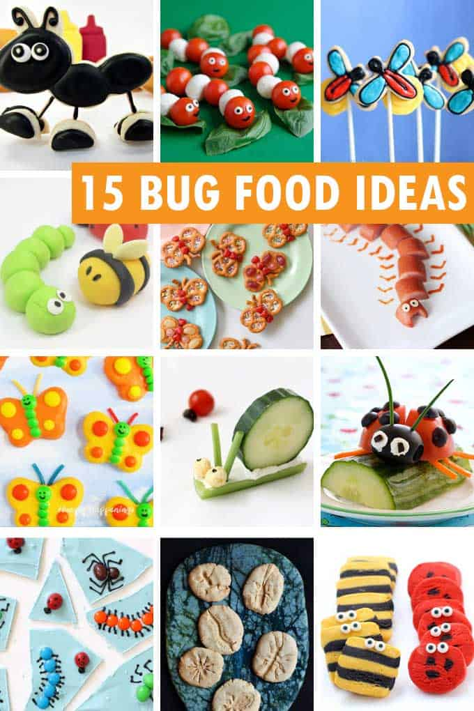 bug party food collage