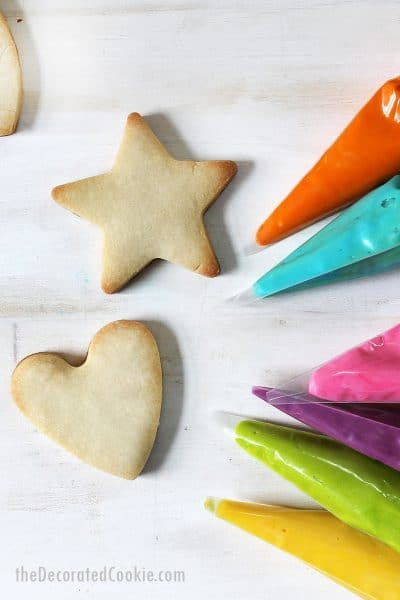 how to make vegan cut-out cookies and vegan frosting for cookie decorating
