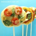 pizza on a stick - the decorated cookie