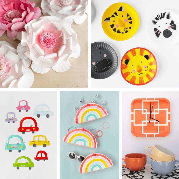 PAPER PLATE CRAFTS -- 22 paper plate crafts for kids and adults. A roundup of crafts and DIY decor made from paper plates