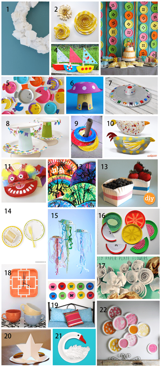 22 paper plate crafts for kids and adults