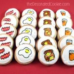 breakfast decorated cookies
