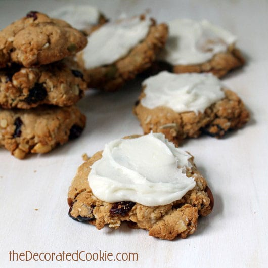 trail mix cookies frosting