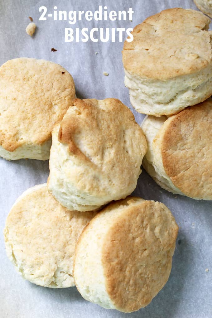 TWO INGREDIENT BISCUITS -- Easy, delicious biscuits recipe. Combine self-rising flour and heavy cream to make quick and easy homemade biscuits.